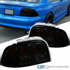 94-98 Ford Mustang Smoke Lens Tail Lights Rear Parking Brake Lamps Left+Right