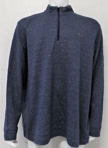 Mens Greg Norman 1/4 Zip Pullover Golf Sweater (XXL) Dark Navy F6511
