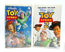 Lot of 2 - VHS Tapes - Disney's Toy Story & Toy Story 2