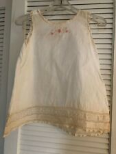 ANTIQUE  Little Girl's DRESS  EMBROIDERY Pin Tucks LACE