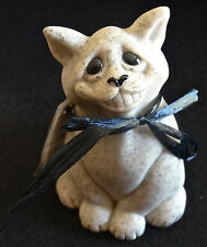 Quarry Critters Chico Smiling Kitty Cat Paperweight by Second Nature Design NEW!