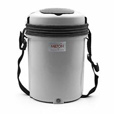 MILTON Electric Tiffin Carrier - 3 or 4 Containers Electron Hot Lunch Box