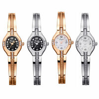 Ladies Rhinestone Crystal Bling Bracelet Analogue Quartz Alloy Dress Watch