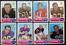 1968 Topps New Orleans Saints Team Set (8) EXMT to NM w J Taylor HOF & B Kilmer