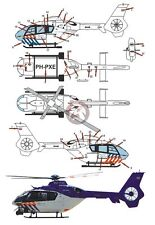 Peddinghaus 1/72 EC135 P2+ Dutch Police Helicopter Markings PH-PXE KLPD 2268