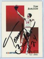 TOM BURLESON Autographed Signed 1992 Courtside Card #7-  NC STATE AUTO