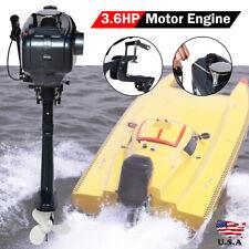 2Stroke 3.6HP Heavy Duty Outboard Motor Fishing Boat Engine Water Cooling System