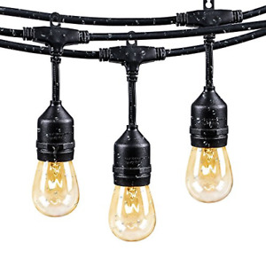 Brightown 48Ft Weatherproof Outdoor Patio String Lights with E26 Base Sockets...