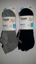 6 Pares calcetines deportivos cortos. Tobilleros. Algodón total comfort. 39 - 42