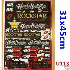 Rockstar Sticker Decal Car Motorised Bike Dirt ATV Quad Motorcycle Motocross