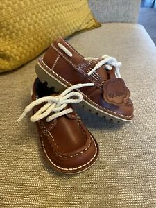 Infant Boys Leather Tan Brown  Kickers Shoes Euro 25 Uk 8 7.5