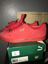 PUMA Men's Sneakers Suede Shoes ~ Red ~ Sizes/ 10.5 Good Condition ! !