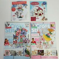 2 Cross Stitching Magazines 2 Card Kits Bunny Rabbit Bear Christmas Crafts