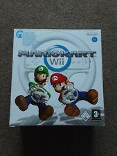 Mario Kart & Official Wheel (Nintendo Wii) Big Box Edition. MINT condition!