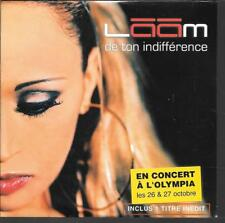 CD SINGLE 2 TITRES--LAAM--DE TON INDIFFERENCE--2001--NEUF / SEALED