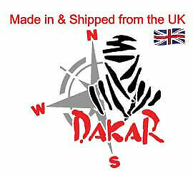Dakar 3 coloured Vinyl Decal for your car, motor bike, study or office