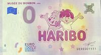 BILLET 0  EURO MUSEE DU BONB0N HARIBO UZES FRANCE  2018  N° PALINDROMME 1551