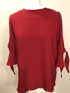 Dorothy Perkins Women's Red Top Size 10 Blouse