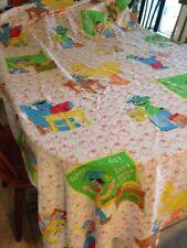 Vintage Sesame Street Twin Bed Sheet Big Bird Cookie Monster Bert Ernie Fabric