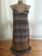 Katies Abstract print Trapeze Sun Holiday dinner PARTY DRESS size 16 NEW