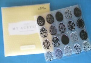 CTMH EASTER EGGS Acrylix Stamps 25 Images Acrylic D1340