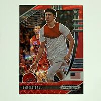 2020-21 PANINI PRIZM LAMELO BALL ROOKIE CARD RC RED WAVE PARALLEL #43