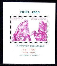 TABLEAU NOËL Rwanda 1 bloc de 1985 ** LE TITIEN - ART PAINTING MALEREI KUNST