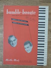 Vintage Bumble-Boogie From Flight Of The Bumble Bee 1946 Sheet Music Offers Ok