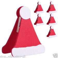 6 x Réglage de la table du chapeau du Père Noël - Décoration de fête de Noël