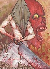 Silent Hill Pyramid Head Original Art By Chris Oz Fulton 8.5 x 11!