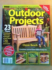 Best-Ever Outdoor Projects 2014 FREE SHIPPING, 23 Plans, Bench, Birdhouse