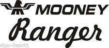 D100 MOONEY Ranger Airplane decal stickers - one set of two (FREE SHIPPING)
