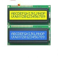 10pcs Blue + Yellow Backlight 1602 16x2 HD44780 Character LCD Display Module