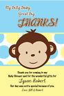 MOD MONKEY BOY Thank You Cards Baby Shower Printable 1st Birthday Party U Print