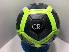 New Nike Cristiano Ronaldo Cr7 Prestige Ball Black/SilverVolt Size- 5/Sc3032 010