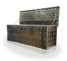 US PRO ALUMINIUM CHEQUER JOB SITE STORAGE CHEST TOOL BOX VAN TRUCK NEW SIZE!