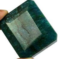 Brazilian 692 Ct Green Emerald Natural Octagon Cut 51 x 43 mm Gemstone