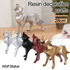 Modern Abstract Art Wolf Statue Ornaments Resin Geometric Statue Gift  !! !1