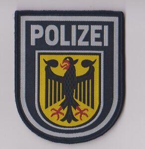 Polizei Abzeichen BGS --  Stoffabzeichen  --  gewebt  --  mit Klett  --