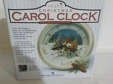 "Alan Giana Christmas Carol Clock ""Midnight Singers"" Design"