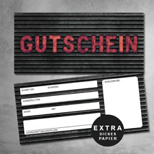 10 KFZ Gutscheine, Garagen Gutscheine, Rock Gutscheinkarten
