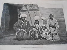 Afghanistan Le volosnoie de Chah-Djab sa femme et le guide  Image Print 1908
