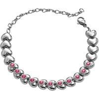 Bracciale Donna BREIL LOVE AROUND TJ1706 Acciaio Cuore Swarovski Rosa NEW