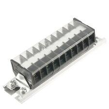 660V 15A DIN Rail Base Dual Row 10 Position Screw Terminal Barrier BT