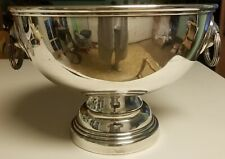 Huge Vintage Silverplate Footed Bowl with Handles - Centerpiece or Punch Bowl