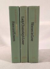 Lot (3) D.H. LAWRENCE Novels (Lady Chatterley's Lover Sons & Lovers Women Love)