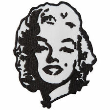 Marilyn Monroe Rockabilly Rock n Roll Motorcycle Pin Up Girl Iron-On Patch #S111