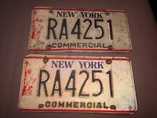 1986-2000 vintage New York License Plates RA4251