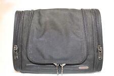 Tumi Black Nylon Canvas Travel Overnight Weekend Cosmetics Toiletry Bag 22191D4