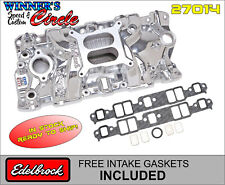 Edelbrock 27014 Perf EPS Intake for 1955-86 SB Chevy, EnduraShine w/Free Gaskets